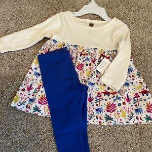 Tea Collection dress & leggings set